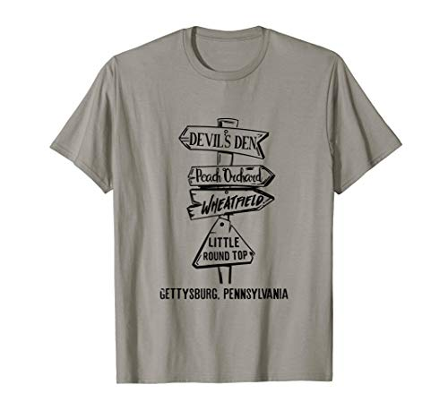 Gettysburg Civil War Landmarks T-Shirt
