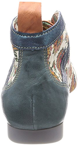 Think! Damen Guad_282288 Desert Boots Blau (Lagune/Kombi 79)