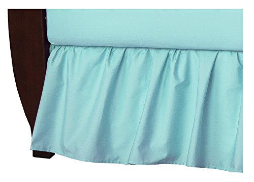 TL Care 100% Cotton Percale Crib Bed Skirt, Aqua by TL Care