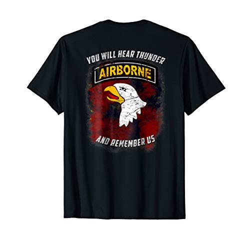 US Army 101st Airborne 'You Will Hear Thunder' T-Shirt