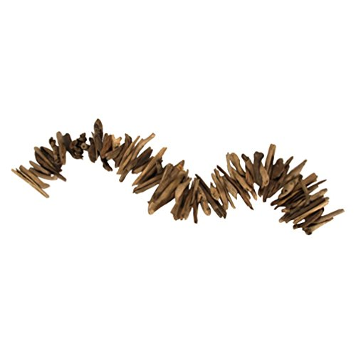 Darice 2503-108 Garland, Weathered Wood, 3' Wood Garland