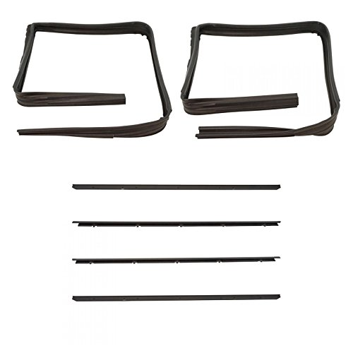 Front Window Sweep & Run Channel Seal Kit Set for GMC Chevy Blazer Pickup Truck ()