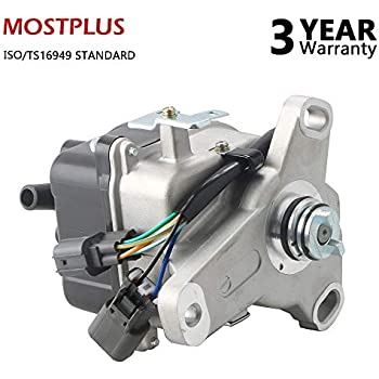mostplus new ignition distributor for 97-01 honda prelude h22a external  coil casting td-77u