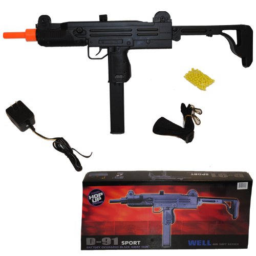 utomatic electric airsoft gun + battery + charger(Airsoft Gun) (Electric Uzi)