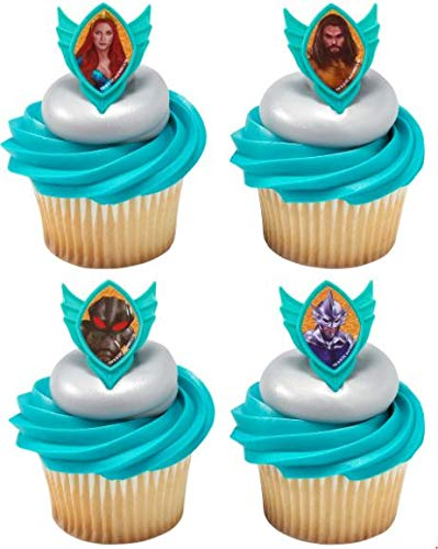 12 Cake Cupcake Ring - Decopac 12 Aquaman Cupcake Rings Toppers Cake Decoration