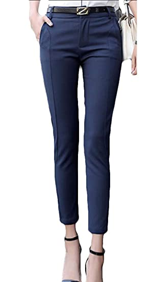 Xqs Pantalones De Vestir Elásticos Para Mujer Pantalones De