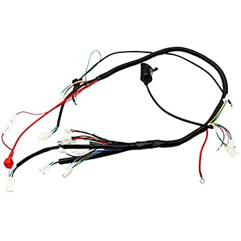 Amazon Com Gy6 Wireloom Wiring Harness Assembly For Scooter 125cc