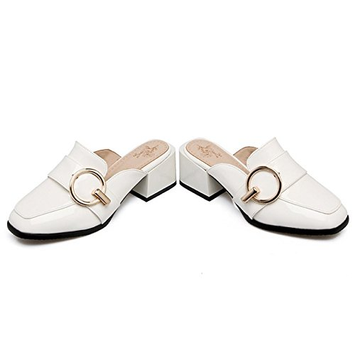 Moda TAOFFEN Donna White Chiuse Pantofole Yazx4a