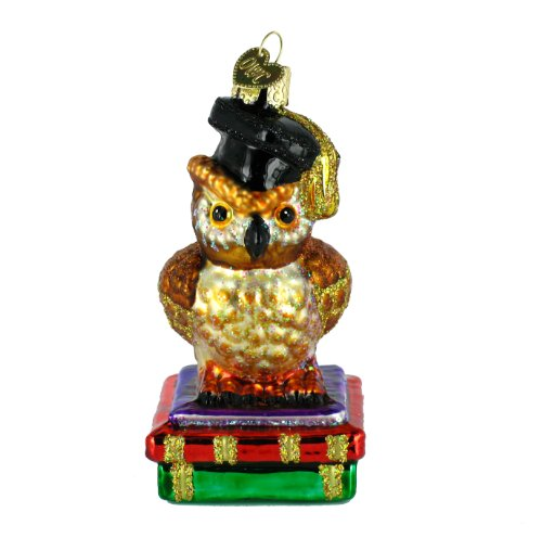 Old World Christmas Graduation Owl Ornament