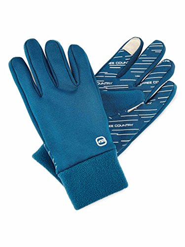 Free CountryレディースMicrotech Stretch Fleece Gloves – Deep Lagoon – S / M