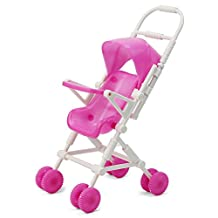 ReFaXi®Cute Plastic Baby Carriage Stroller Trolley For Barbie Doll Nursery Furniture