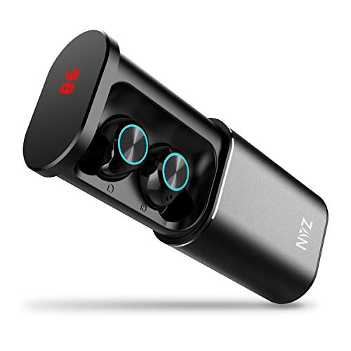 Wireless Headphones, NYZ True Wireless Bluetooth Eearbuds Earphones Headphones Headset 3350mAh Power Bank External Battery with 175H Playtime LED Display for iPhone and Android