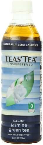Teas' Tea Unsweetened Jasmine Green Tea, 16.9 Ounce (Pack of 12)