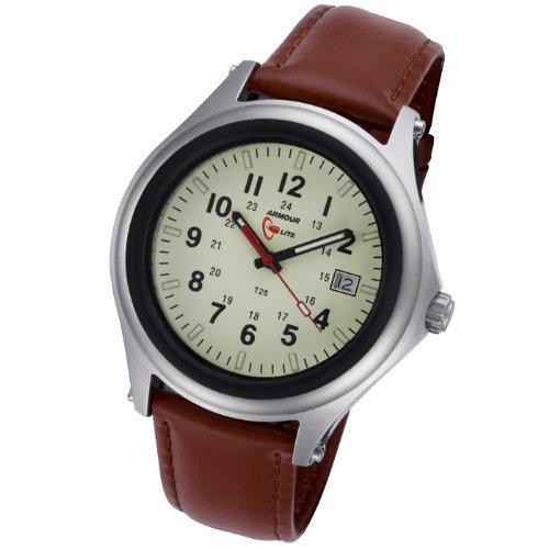 (Armourlite ShatterProof Scratch Proof High Impact Glass Captain Field H3 Tritium 100m Watch)