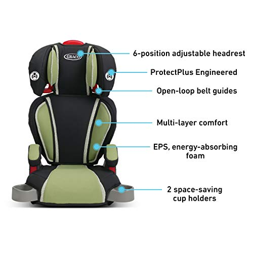 412hz4DYqHL - Graco TurboBooster Highback Booster Seat, Go Green