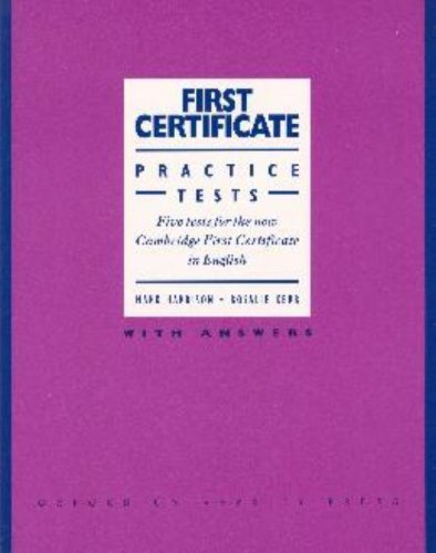 Download First Certificate Practice Tests Five Tests for the New Cambridge First Certifictate in English: Book with ebook