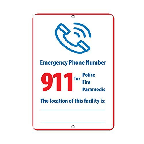 Emergency Phone Number 911 for Police Activity Sign Aluminum Metal Sign 8x12 inch
