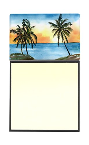 Caroline's Treasures 8551SN Palm Tree Refillable Sticky Note Holder or Postit Note Dispenser, 3.25 by 5.5