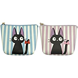 Wrapables - Bolsa para Monedas de Gato con Soporte para Llaves (2 Unidades), Color Azul Claro y Lavanda