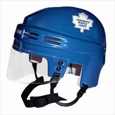 - SportStar NHL Toronto Maple Leafs Mini Replica Hockey Helmet, Blue, Small