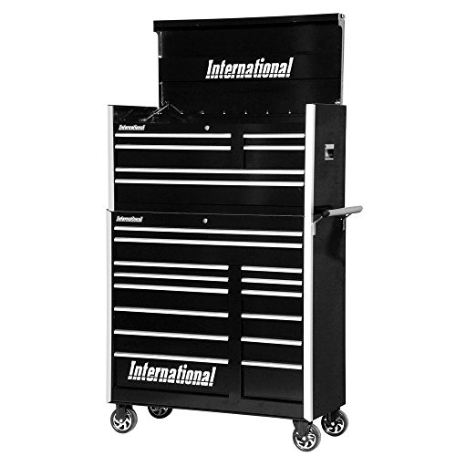 International Pro Series 42 in. 20-Drawer Tool Chest and Cabinet Combo (Series Cabinet Drawer 6 Side)