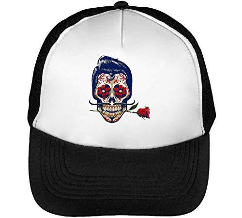 Gorras Snapback Blanco Skull Negro Candy Beisbol Hombre xwvqH8