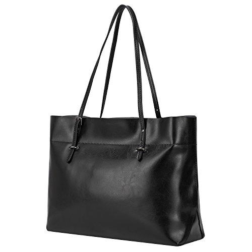 cuoio donne ZONE tracolla del Nero di delle Borsa genuino sacchetto S spalla a del grigio dell'annata di 1wzxO