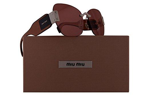 Miu Miu MU08SS Sunglasses Ivory White w/Pink Lens 63mm VIU1D0 SMU 08S SMU08S MU - Sunglasses Miu Miu White