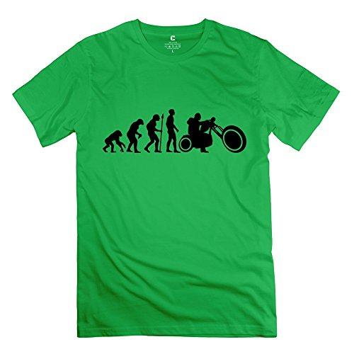 HUASH Boy Biker Evolution Tee Shirt ForestGreen