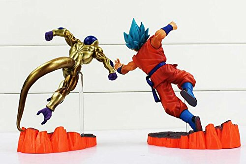 ドラゴンボールZ 2個Resurrection F Golden Frieza Vs GokuアクションフィギュアモデルおもちゃCollective人形6` 15cm M
