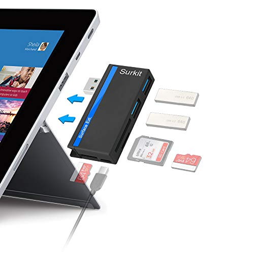 USB3.0 HUB Adapter with SD/Micro SD Card Reader for Microsoft Surface Pro 3 (12.3) / Pro 4 / Pro - Support 2 TF/Micro SD Cards + 1 SD Cards + 2 USB 3.0 Port Combo Adapter