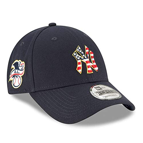 New Era New York Yankees Youth MLB 2018 Stars & Stripes 4th of July 940 9FORTY Adjustable Cap Hat ()