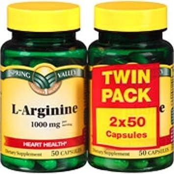 L-arginine 1000 Mg (2 Pack X 50 Capsules)