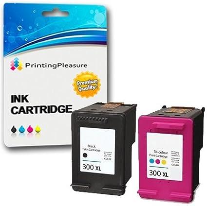 Printing Pleasure Cartouche HP 300 Jeu (un noir &une cartouche d'encre couleur pour HP Deskjet D1660 et D1663 Noir/couleur D1600 BOXD2500, D2563 D2560 D2660, D5560, F2400, F2420, F2480, F2488, F2492, F4210, F4213, F4240, F4272, F4283, F4275/F4280, F4580 F4