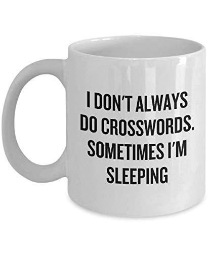 - Funny Coffee Mug Personalized Mugs 11 Ounces Print Mug Friend Birthday family Gift-Crossword Puzzle Fan Mug