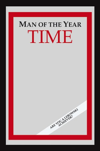 "The Big Lebowski - XL Bar Mirror (Time: Man Of The Year) (Are You A Lebowski Achiever?) (Size: 12"" x 16"")"