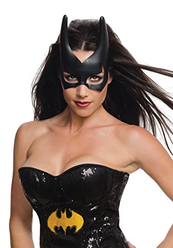 Batgirl Costumes For Adults (Rubie's Costume CO Women's DC Superheroes Batgirl Mask, Black, One Size)