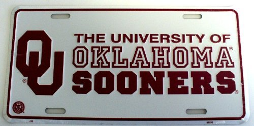 University of Oklahoma Sooners License Plate Tin Sign 6 x 12in ()