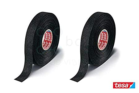 Boxiti Tesa 51608 - Cinta de Forro Polar para VW, Audi, Mercedes, BMW, 19 mm x 15 m, Color Negro