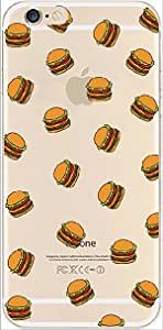 iPhone 6 Case, DECO FAIRY? Protective Case Bumper[Scratch-Resistant] [Perfect Fit] Ultra Slim Translucent Silicone Clear Case Gel Cover for Apple iPhone 6 (burger overload)