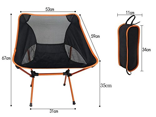 Lucky NS Compact Portable Ultralight Folding Backpacking Chairs with Carry Bag,Hiking Picnic Camping Barbecue Touring Fishing Travelling Beach Seat,Won't Sink In the Sand or Mud