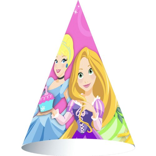 Disney Princess 1st Birthday Cone Hats (8ct) ()