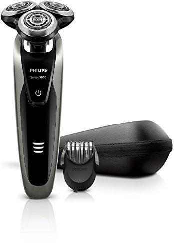 Philips S9161/41 Shaver Series 9000 Elektro Nass- und Trockenrasierer, silber