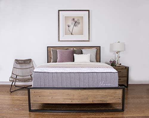 Brooklyn Bedding Bloom 14-Inch Talalay Latex Hybrid Mattress with Organic Cotton Cover, Twin XL Soft
