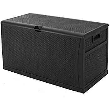 Amazon Com Suncrown Deck Box Outdoor Wicker Storage