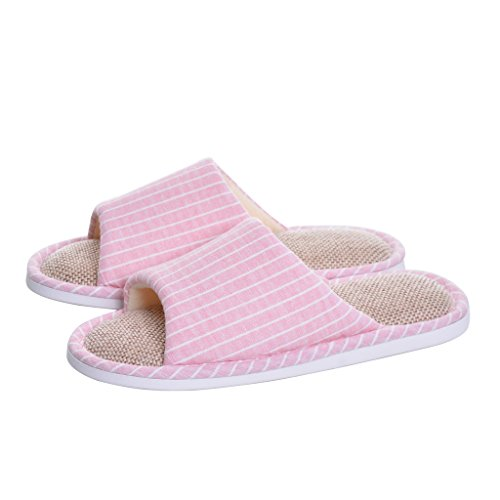 Home Slippers,unisex Cotton Flax Casual summer bedroom Slippers,Memorygou