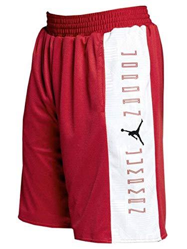 Jordan Men's Retro 11 Reversible Basketball Shorts Red White Black AA2964 (l) (Air Jordan Retro Shorts)