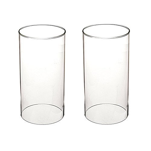 Borosilicate Glass, Glass Chimney for Candle, Open End (D3H6) ()