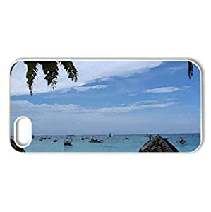 exotic beach - Case Cover for iPhone 5 and 5S (Beaches Series, Watercolor style, White)