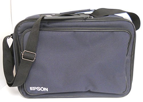 Epson PowerLite S1+ Projector Blue Nylon Carring Case with Storage Pocket and Adjustable Strap by Epson